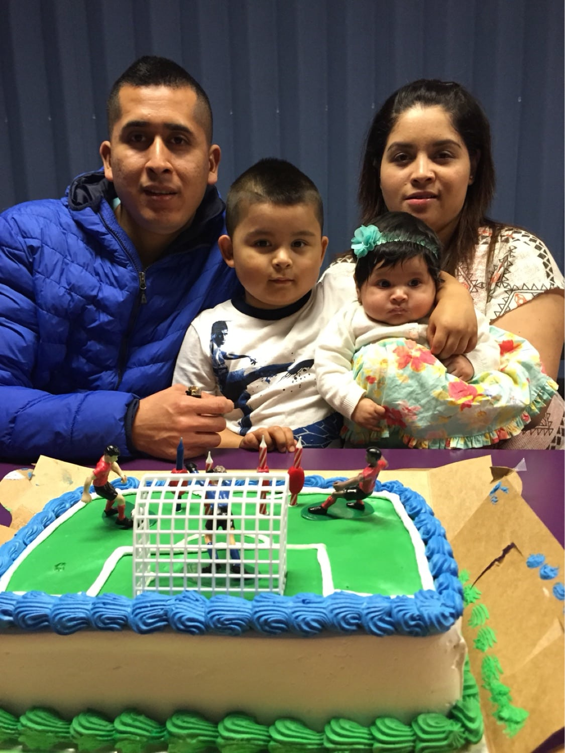 Manuel with his family