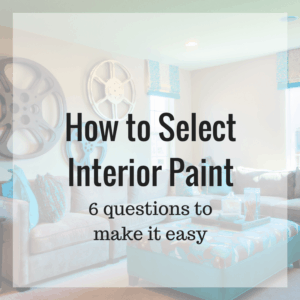 6 questions about interior paint